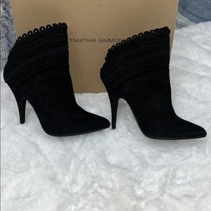 Tabitha Simmons Harmony Suede Scalloped Booties